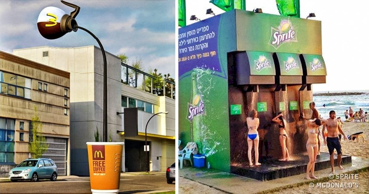 Quand plus personne neregarde les publicités, les créatifs redoublent d'imagination etinventent lapub utile