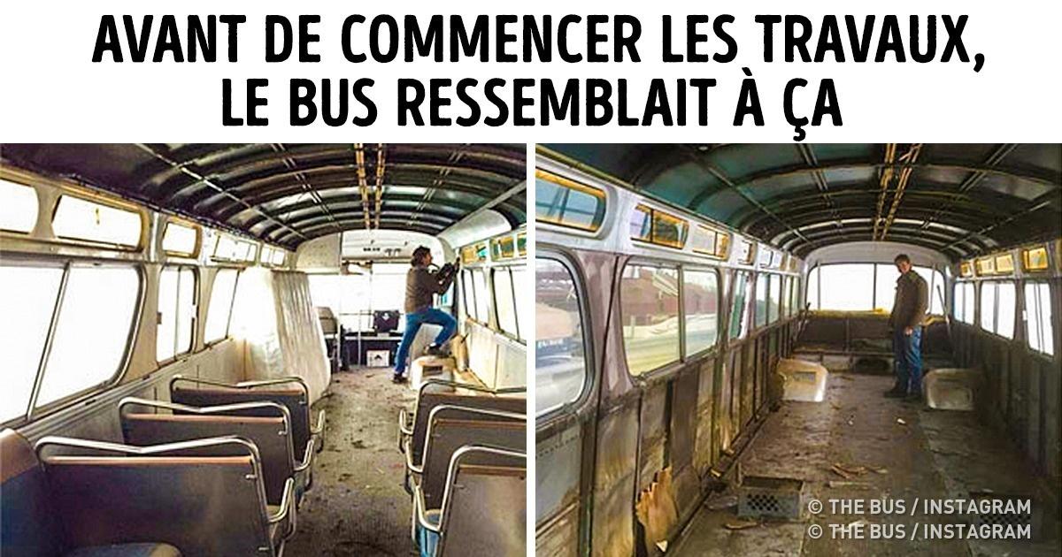 Ilafallu trois ans àcette jeune fille pour réaménager unvieux bus enlieu devie, etlerésultat est vraiment incroyable