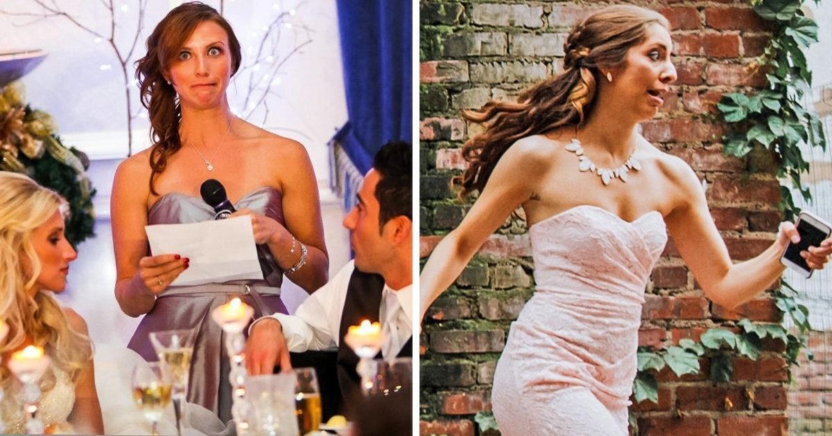 Ces photos montrent que laplus grosse pression des mariages neretombe pas sur lecouple, mais sur les demoiselles d'honneur etsur les amis des mariés
