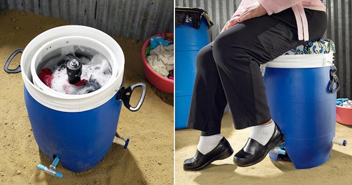 Voici une machine à laver économique et écologique qui ne coûte que 40$