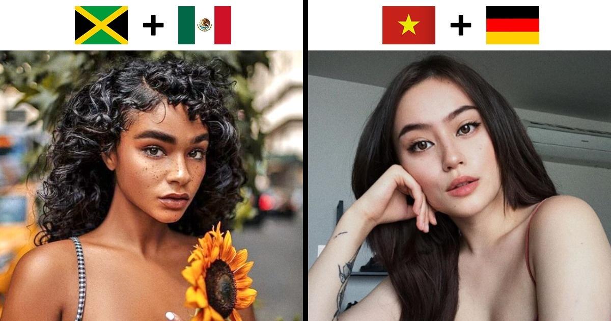 14Beautés inhabituelles nées dumétissage dedifférentes nations