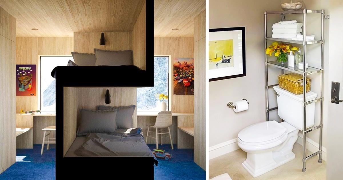 22Idées pour économiser del'espace etpour rendre n'importe quel appartement depetite surface plus accueillant