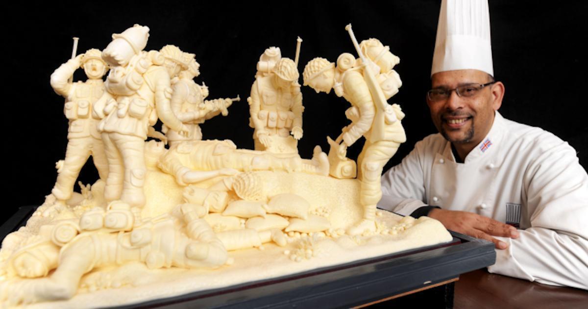 Ce chef anglais crée des sculptures incroyables… dans de la margarine!