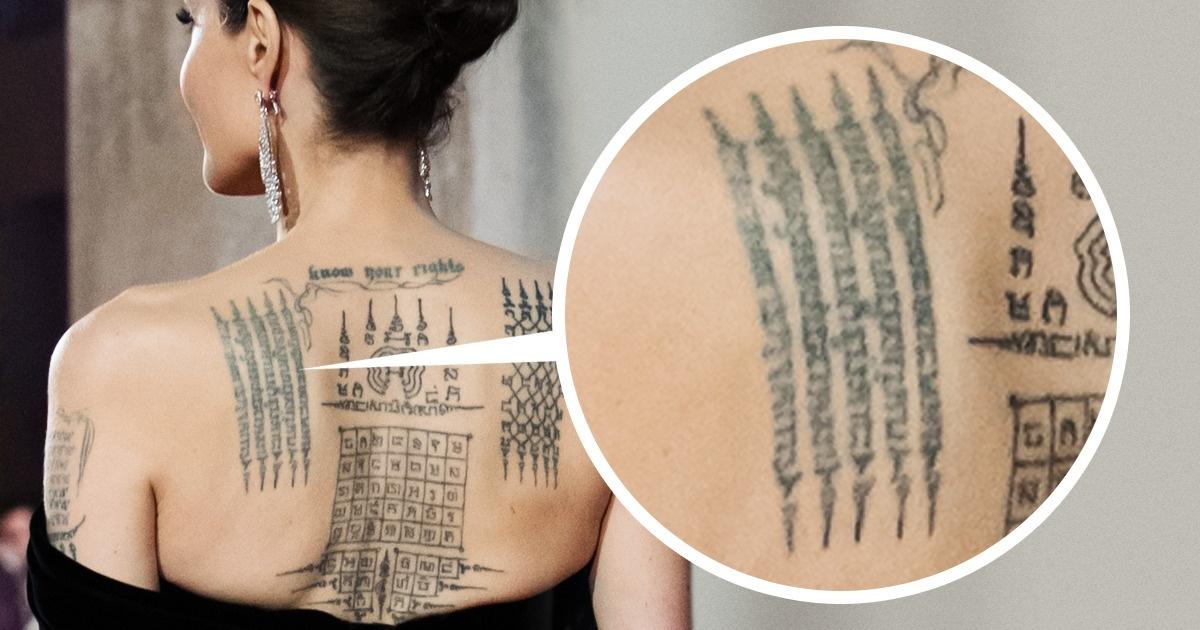 Angelina Jolie adévoilé certains deses tatouages, etvoici leur signification