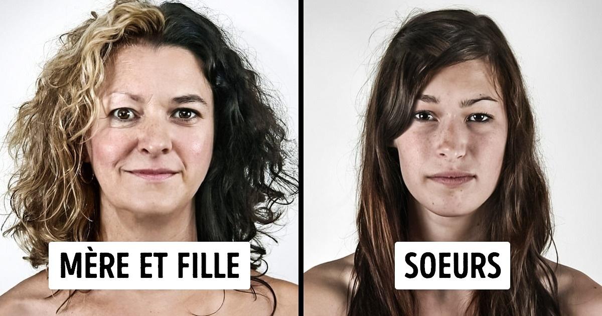Unphotographe réalise des portraits combinés avec des photos defamille pour démontrer àquel point nos gènes sont incroyables