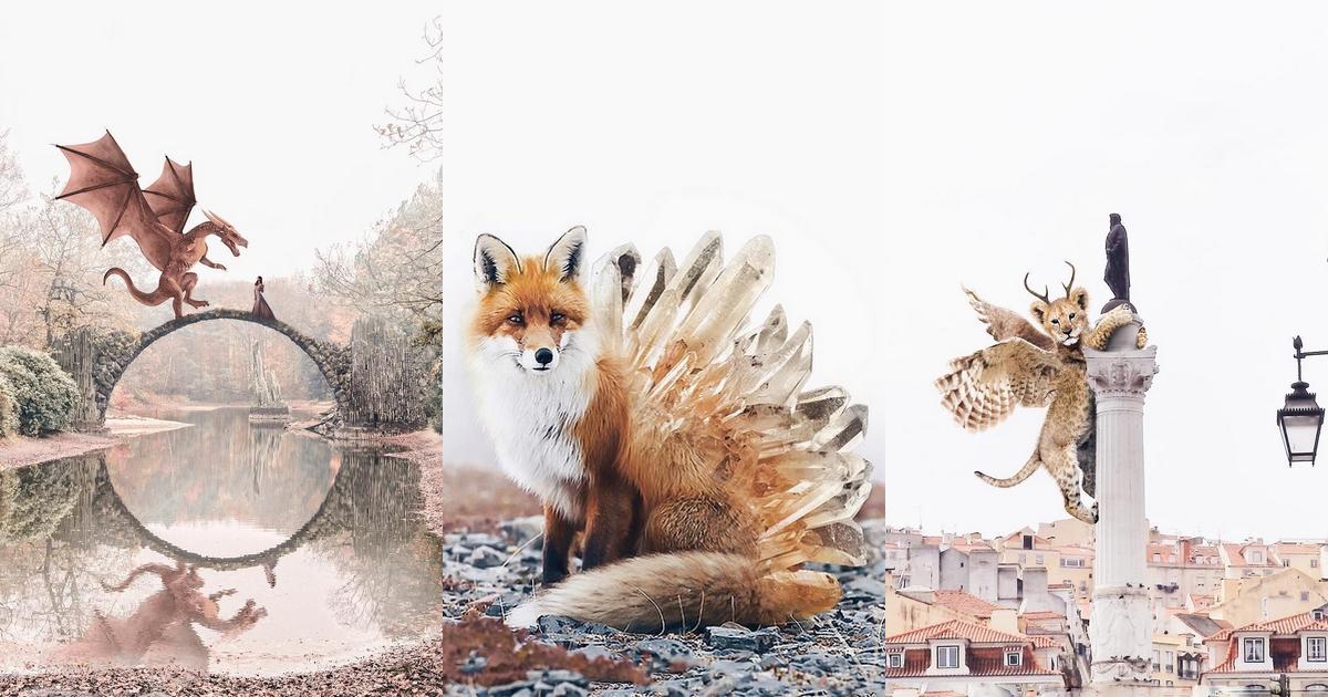 Luisa Azevedo nous fait découvrir ses animaux féeriques au travers de sublimes retouches numériques
