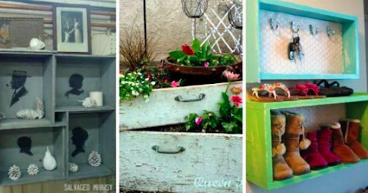 13 idées géniales pour récupérer de vieux tiroirs