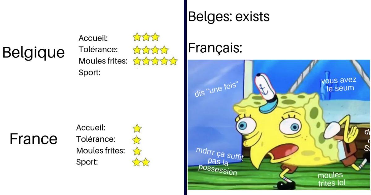 Top 13 des meilleurs memes sur la Belgique, on vous aime tant
