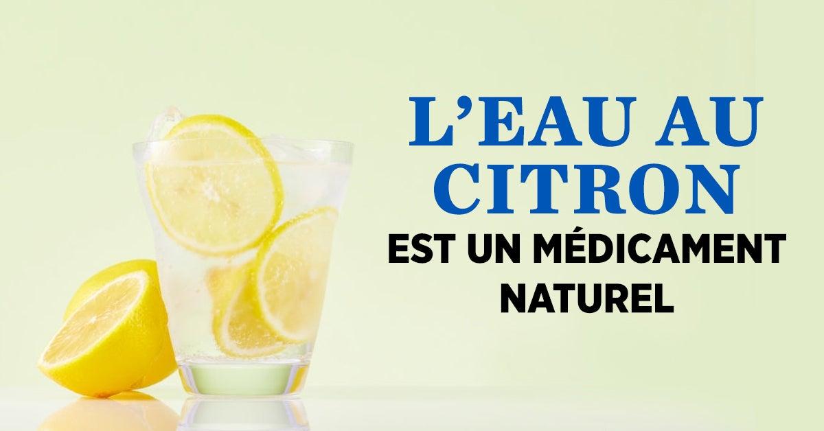 5 choses qui se produisent dans votre corps lorsque vous buvez de l'eau au citron