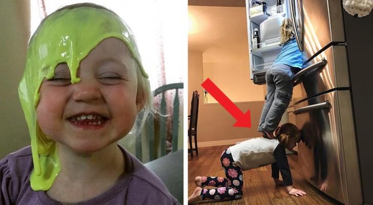 14 photos d'enfants dans des situations désastreuses qui conduiraient n'importe quel parent à l'exaspération
