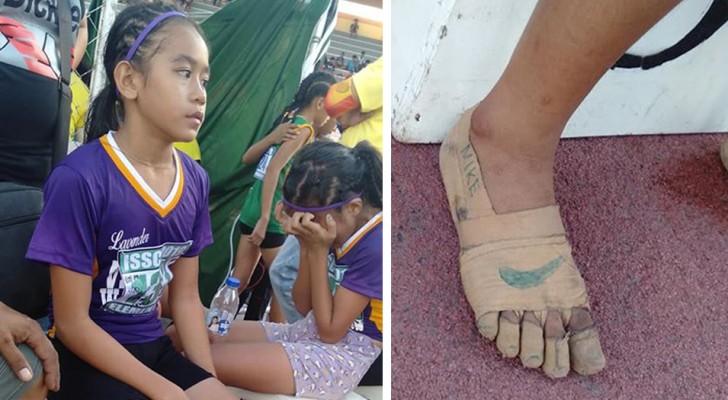 Elle n'a pas les moyens de s'acheter de vraies chaussures : elle crée ses propres 'Nike' et remporte 3 médailles d'or pendant la course
