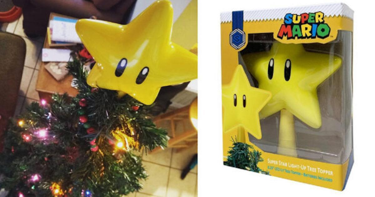 Les fans de Mario Bros voudront tous et toutes cette étoile pour sapin!