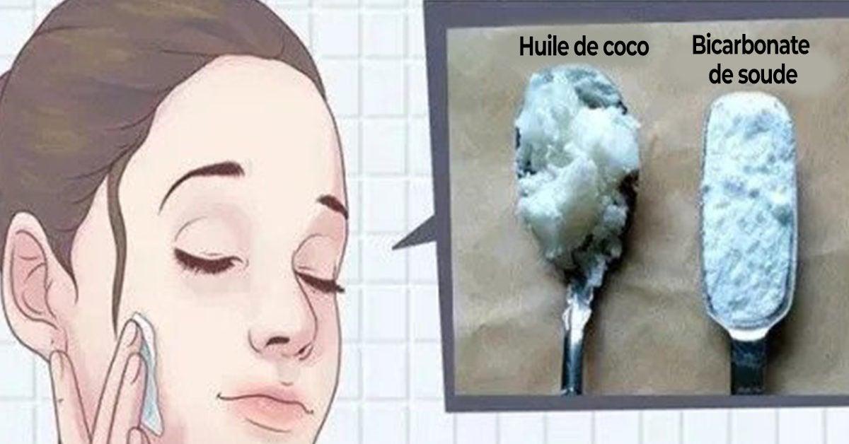 Voici comment utiliser le bicarbonate de soude et l'huile de coco pour paraître 10 ans plus jeune