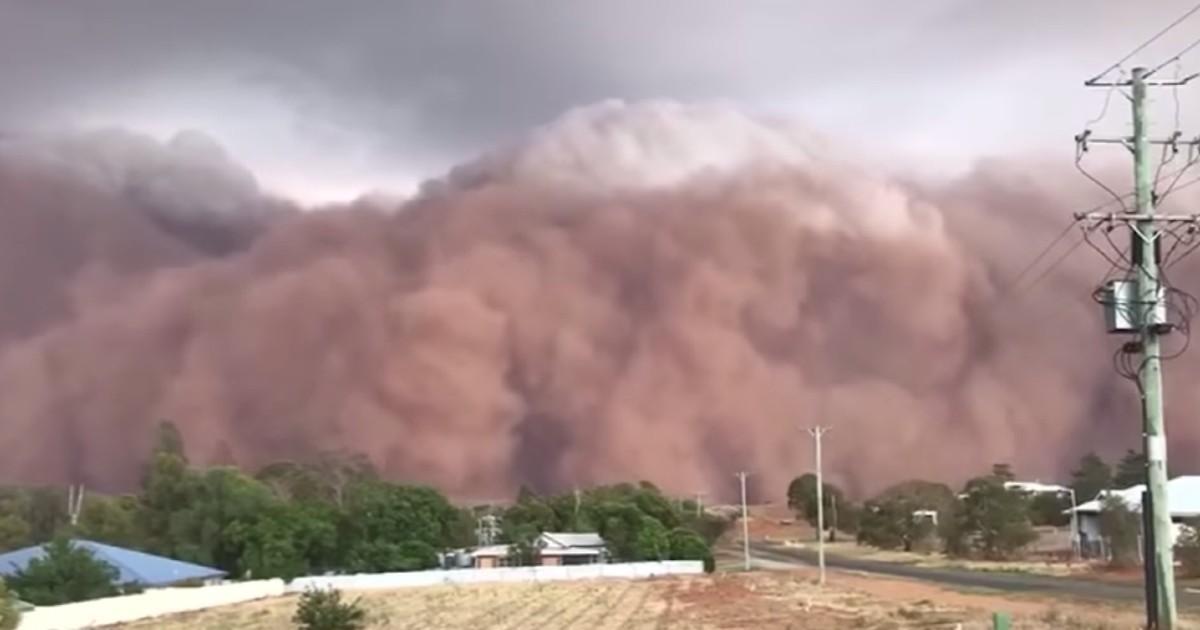 L'Australie a maintenant le droit à d'impressionnantes tempêtes de sable