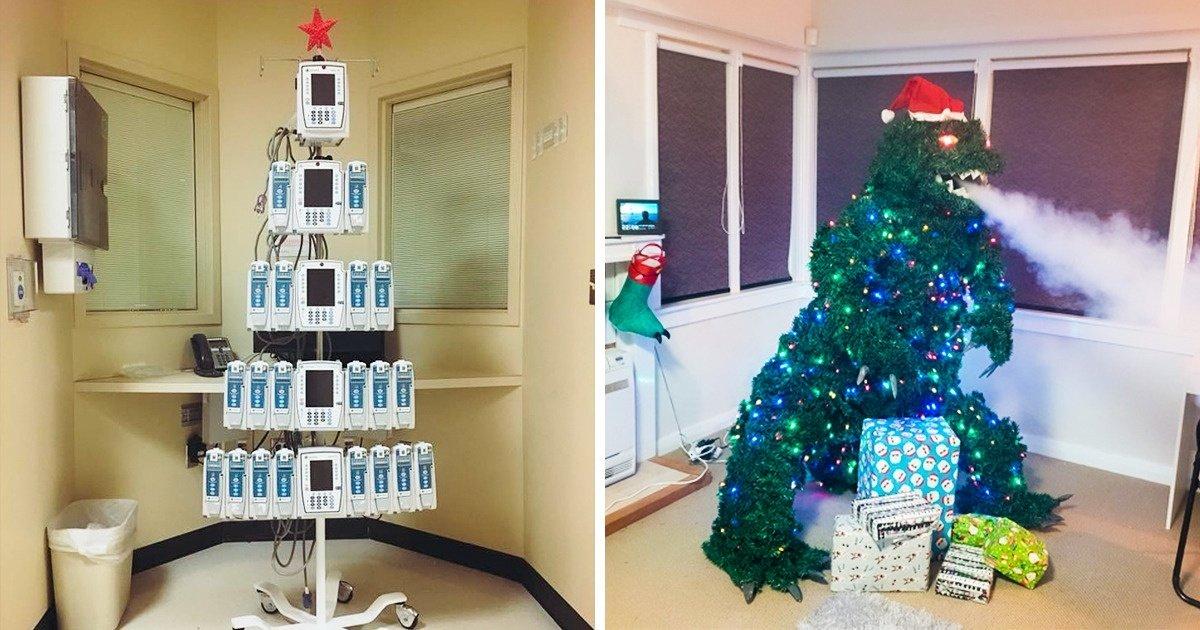20 Internautes ont partagé des photos de sapins de Noël originaux qu'ils ont installés chez eux ou aperçus dans la rue