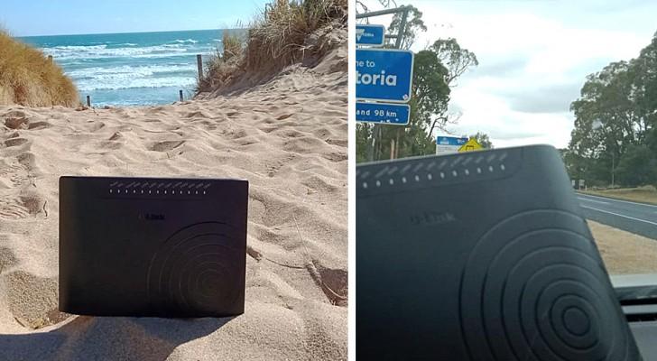 Les enfants refusent de partir avec eux : en réponse, le père et la mère emportent avec eux le modem internet en vacances