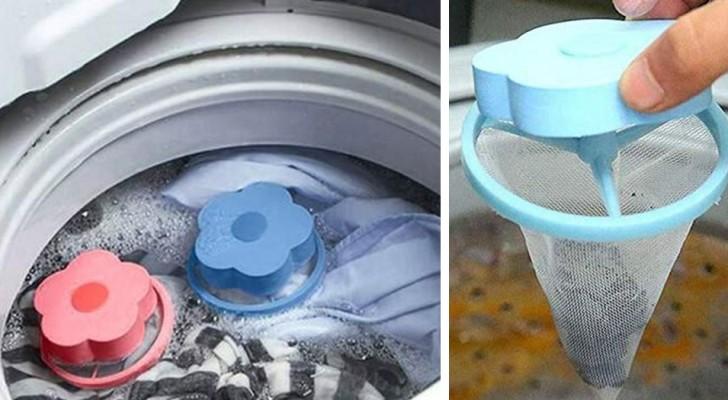 Une fois mises dans la machine à laver, ces petites fleurs en plastique attirent les poils d'animaux restés sur les vêtements