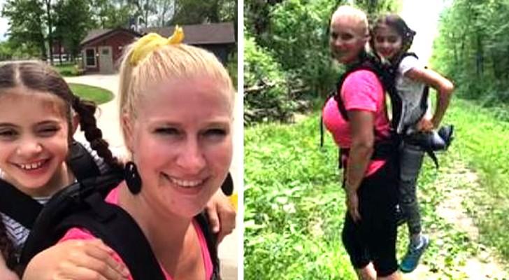 Cette enseignante a porté une élève invalide sur ses épaules pour qu'elle ne soit pas exclue du voyage scolaire