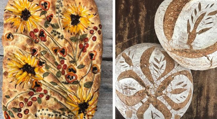 L'art de faire le pain : cette boulangerie crée des pizzas et des fougasses joliment décorées de motifs floraux