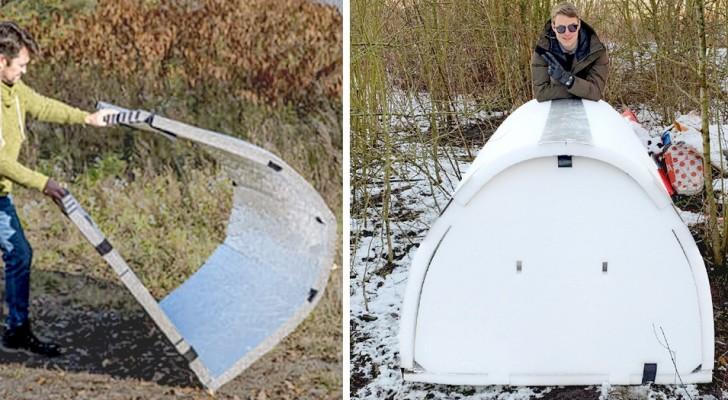 Un ingénieur français a fabriqué des 'igloos' pour sans-abri : ils sont hydrofuges et maintiennent la température corporelle