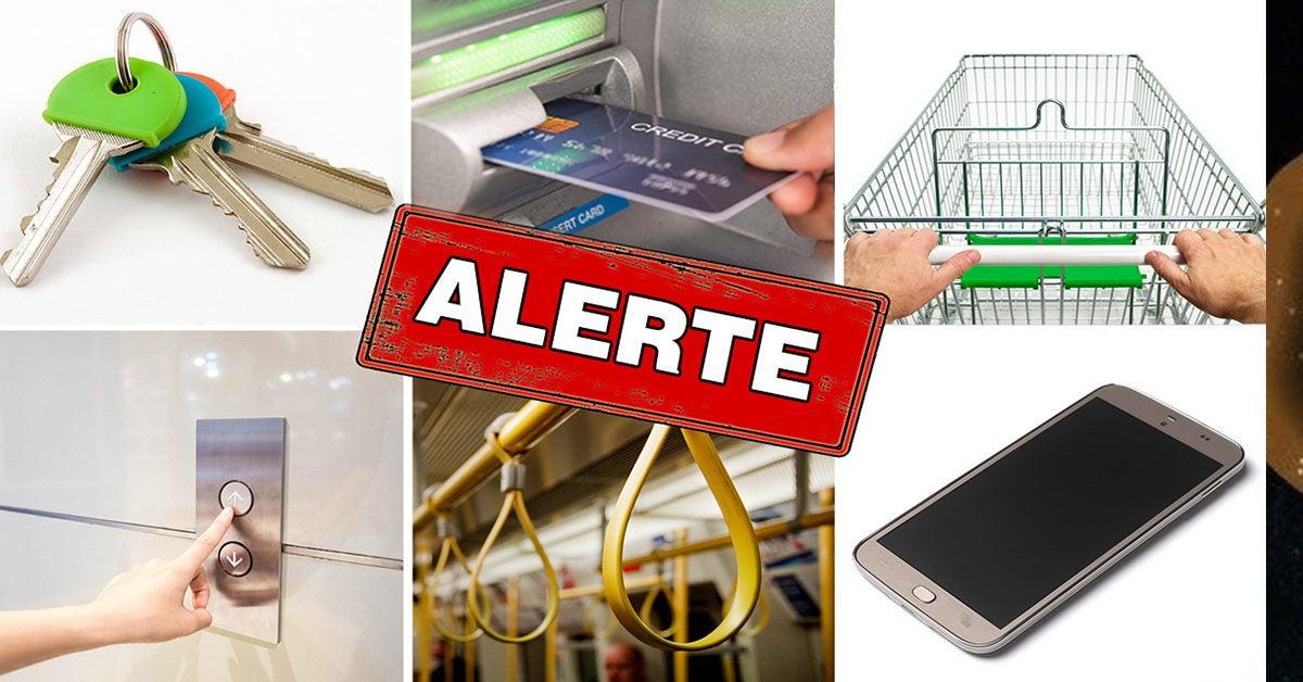 Coronavirus : Clés, caddie et distributeurs automatiques de billets …voici les objets à risque de la maladie que vous devez connaître