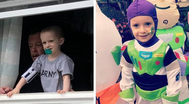 Un enfant atteint d'un cancer a passé trois ans à la maison à regarder le monde par la fenêtre : il peut maintenant enfin sortir de la maison