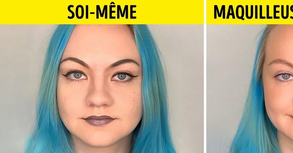 16 Jeunes femmes se sont maquillées elles-mêmes, puis ont confié leur visage à une professionnelle : difficile de dire quelle est la plus jolie version