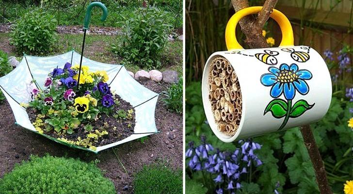 13 idées géniales pour réutiliser de vieux objets dans le jardin : des décorations originales et gratuites