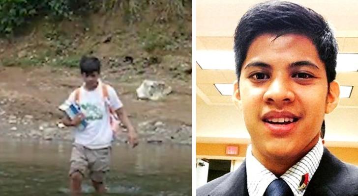 Ce garçon très pauvre devait traverser chaque jour une rivière pour aller à l'école : aujourd'hui, il étudie à Harvard