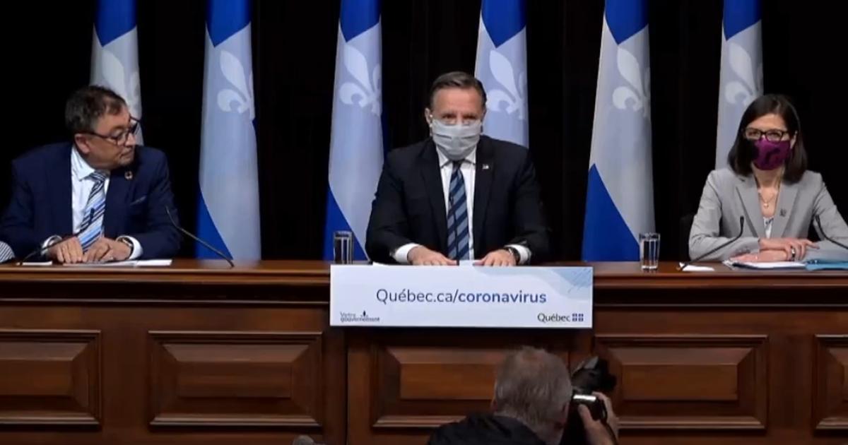 Masque au visage, François Legault annonce 118 nouveaux décès