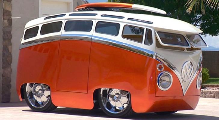 Un homme transforme le mythique van Volkswagen en un véhicule qui semble sortir d'un dessin animé