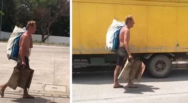 Un homme est obligé de ramasser des ordures pour vivre après que sa fiancée ait dépensé tout son argent