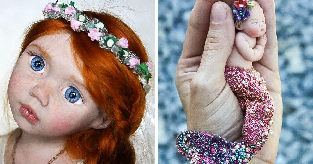 Une artiste crée des mini-poupées faites à la main qui impressionnent par leur beauté et leur réalisme
