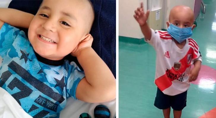 Il a vaincu un cancer à seulement 3 ans, en pleine pandémie : 'Je suis heureux parce que je suis guéri !'