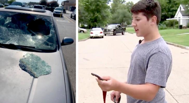 Un garçon de 12 ans voit un enfant enfermé dans une voiture sous le soleil : il brise la vitre et le sauve