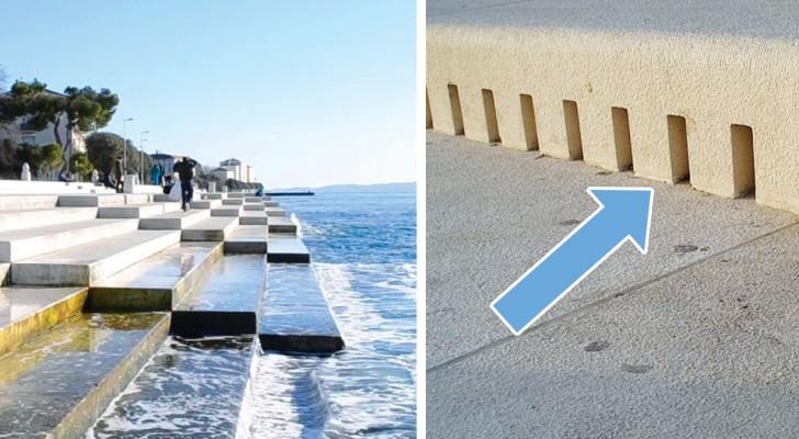 Ces escaliers dissimulent un orgue qui produit de la musique chaque fois qu'il est touché par les vagues de la mer