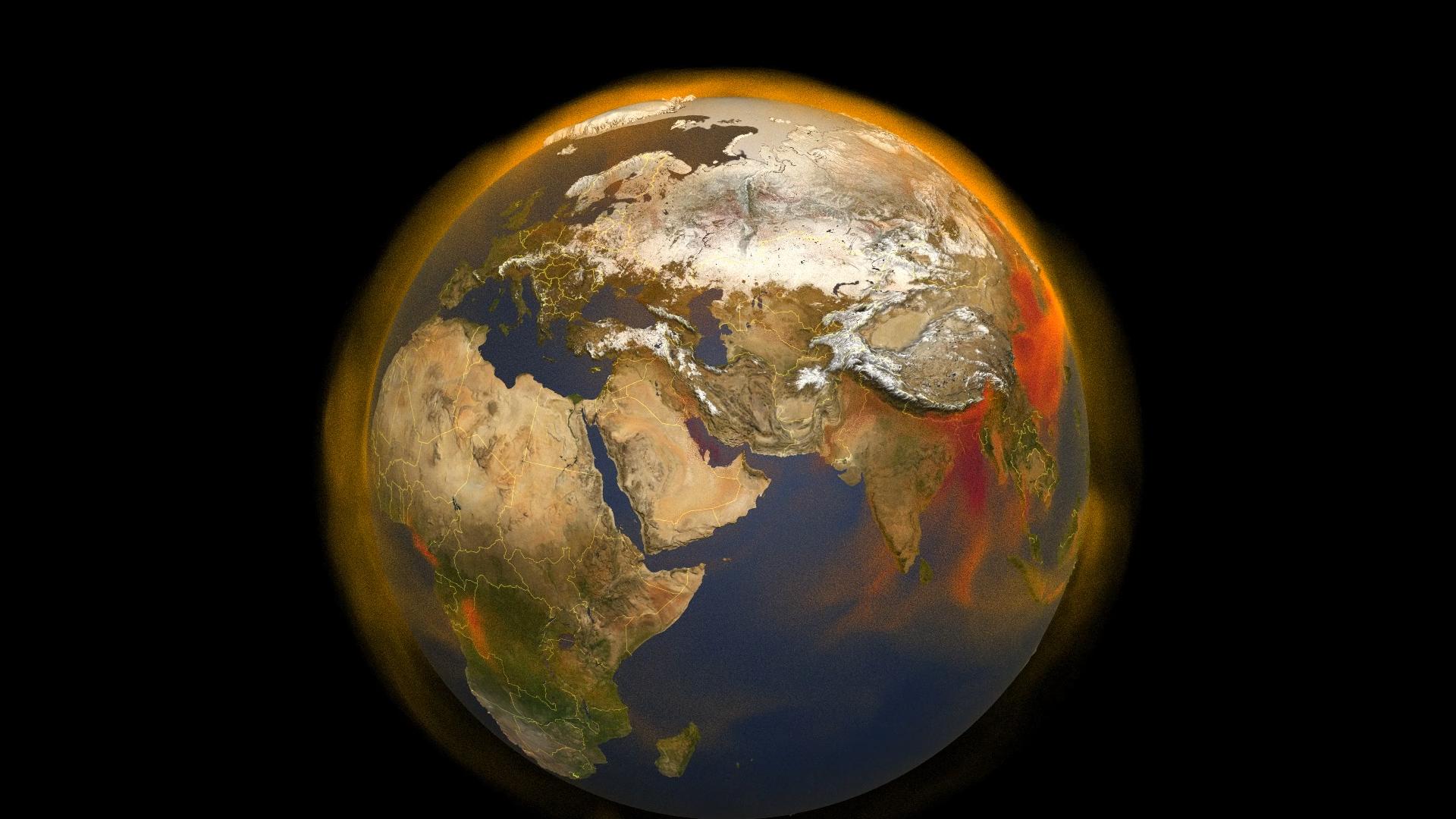La NASA publie une vue 3D des émissions mondiales de méthane