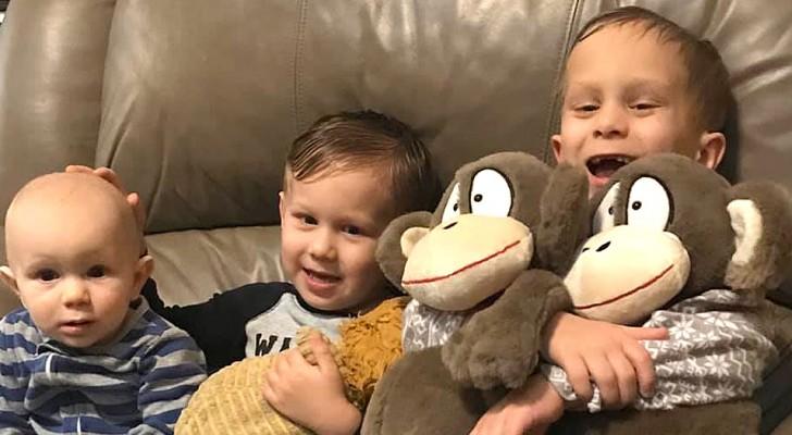 3 petits frères ont le même cancer des yeux : ils se battent ensemble et se donnent de la force