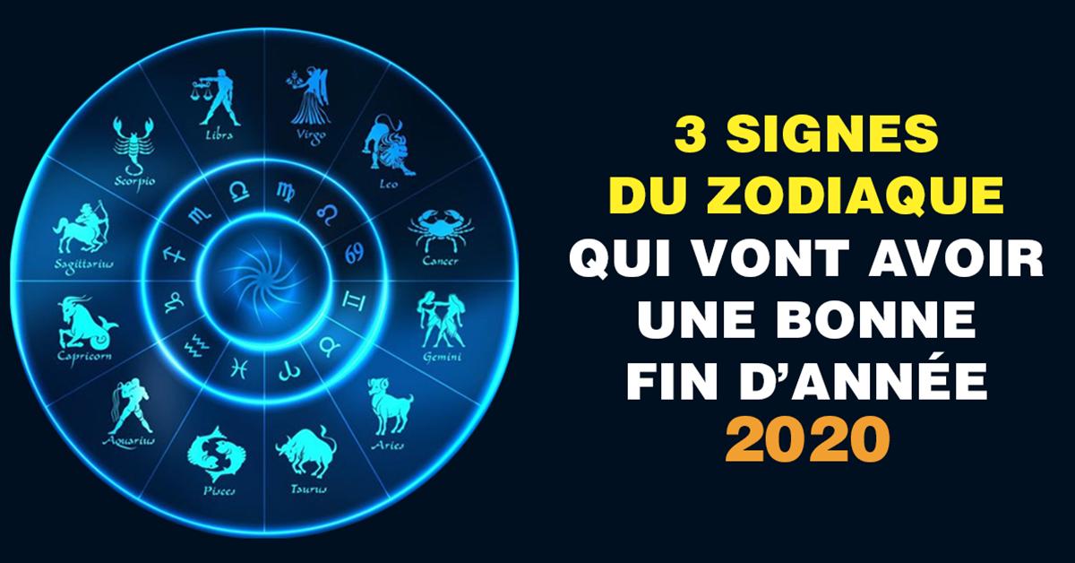 3 signes du zodiaque qui vont avoir une bonne fin d'année 2020