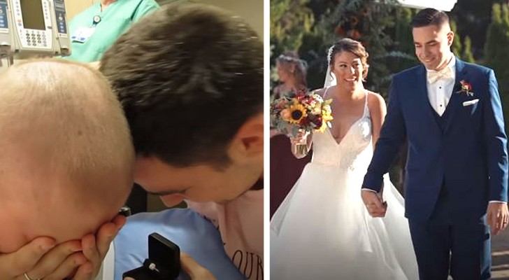 Elle survit à un cancer après des mois de souffrance : son petit ami la demande en mariage le dernier jour de chimio