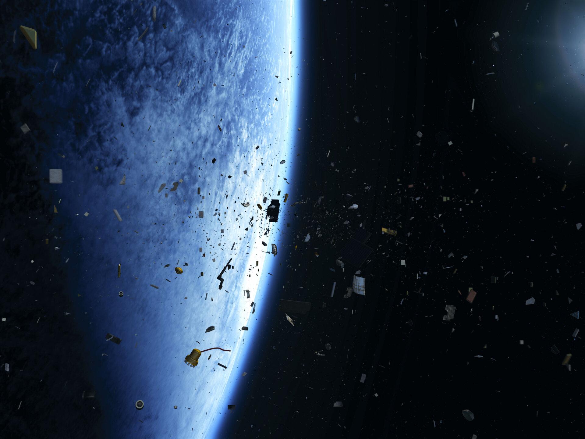Deux gros morceaux de débris spatiaux pourraient entrer en collision cette nuit