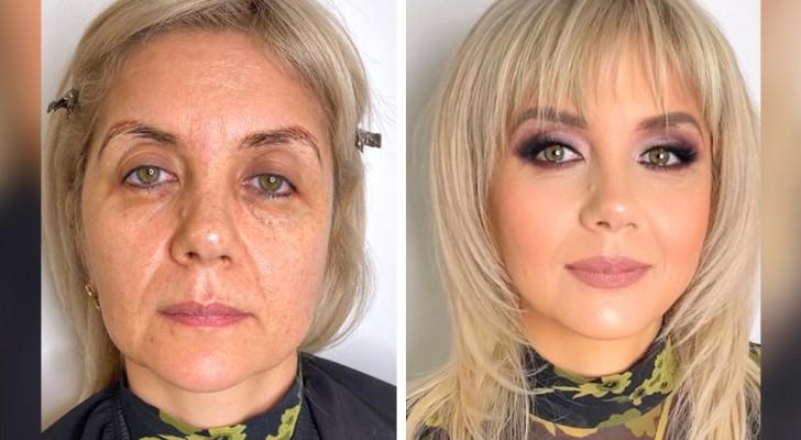 18 femmes qui ont révolutionné leur look grâce au talent d'une célèbre maquilleuse