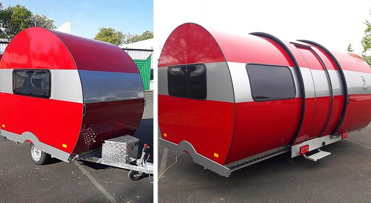 Ne vous fiez pas au premier coup d'œil : cette caravane s'agrandit pour atteindre trois fois sa taille en quelques secondes