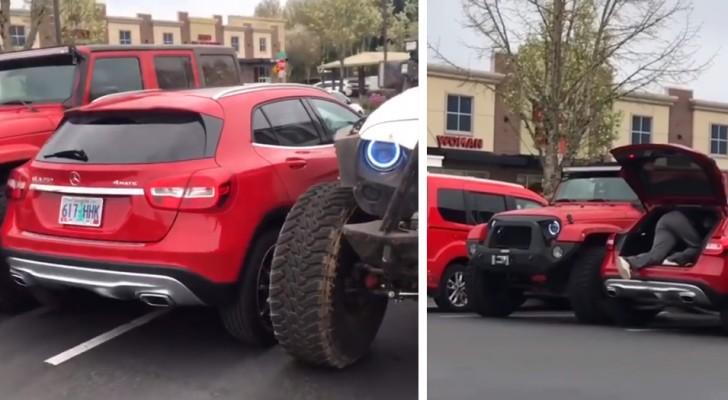 Deux amis se 'vengent' d'un inconnu qui avait mal garé sa voiture