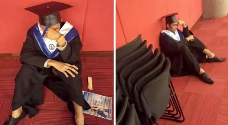 Il parvient à obtenir son diplôme mais ses parents ne se présentent pas : le garçon éclate en sanglots avant la cérémonie