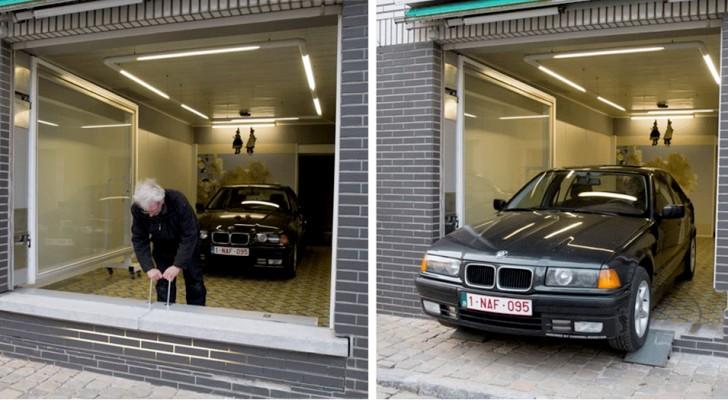 La mairie l'empêche de construire un garage sous son appartement, mais il le fait quand même… à sa manière