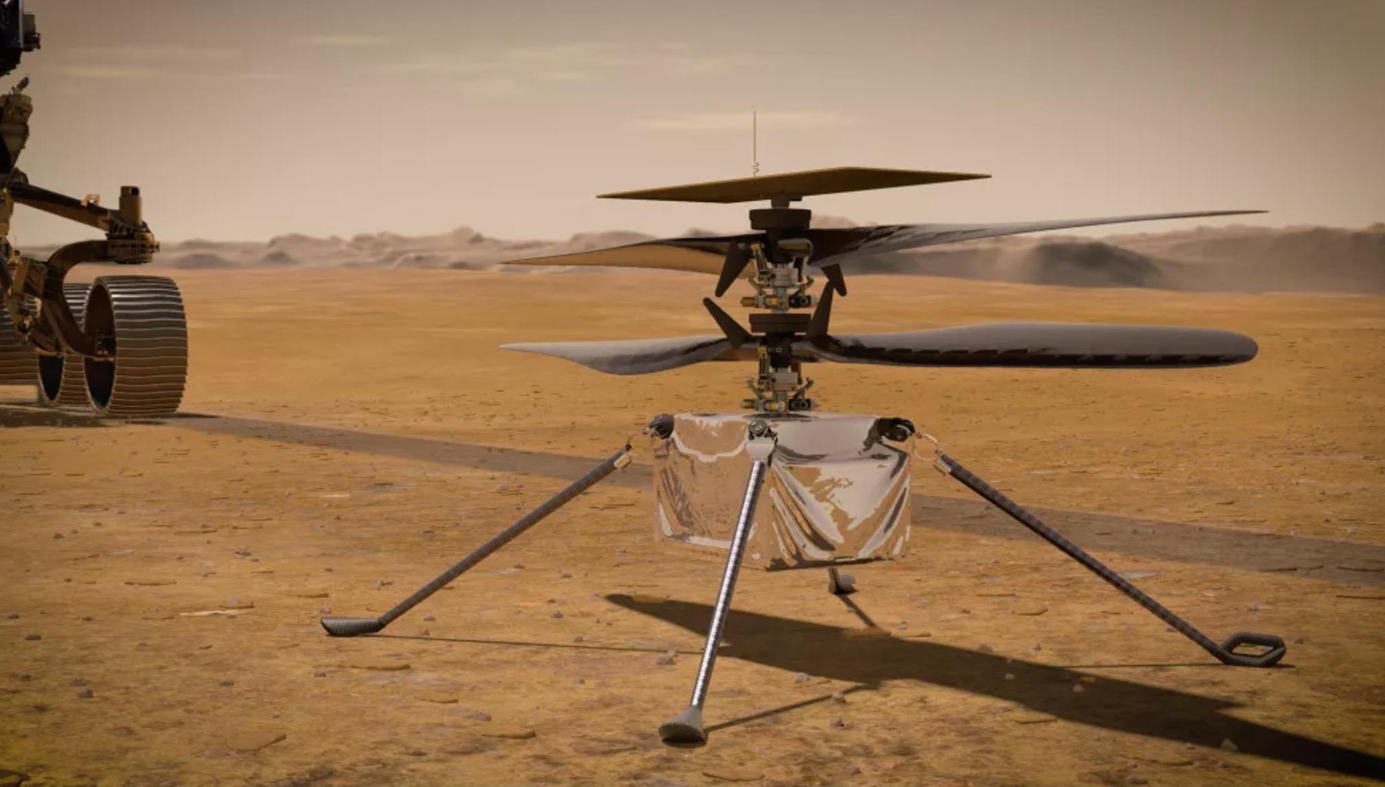 Sur Mars, Ingenuity se prépare pour un premier vol historique