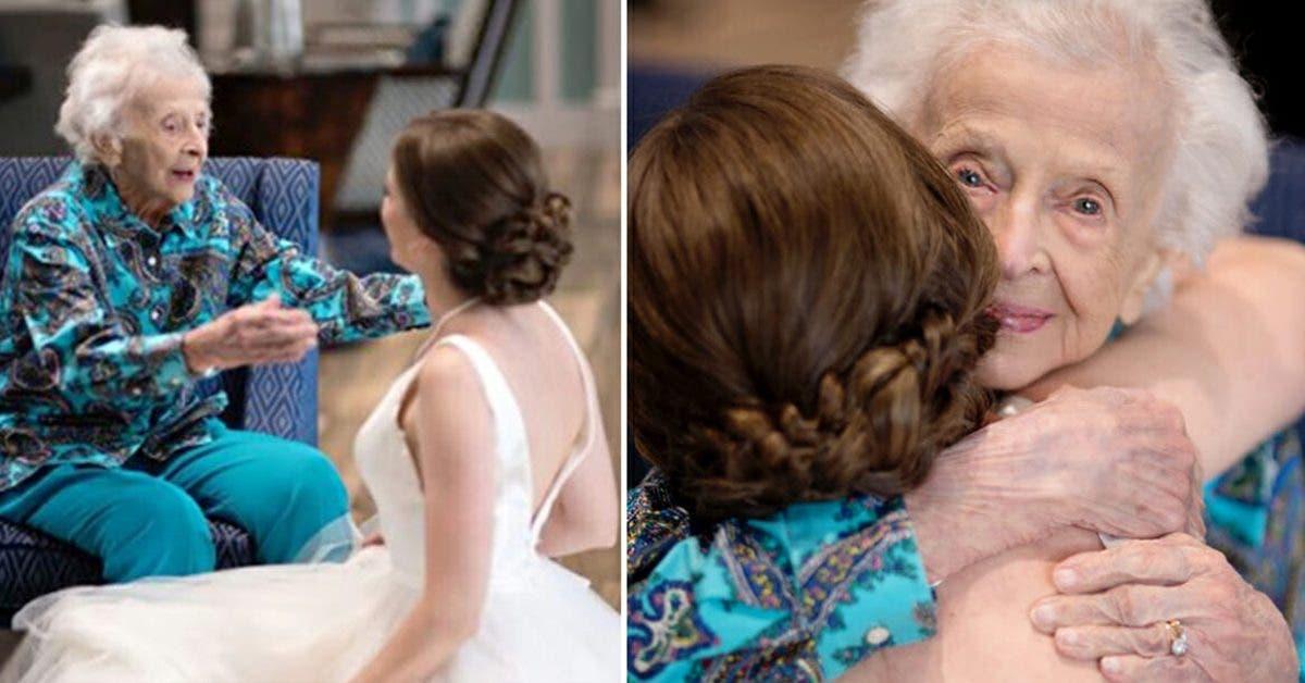 Future mariée « vole » avec robe de mariée pour voir mamie de 102 ans ne pouvant pas venir à son mariage
