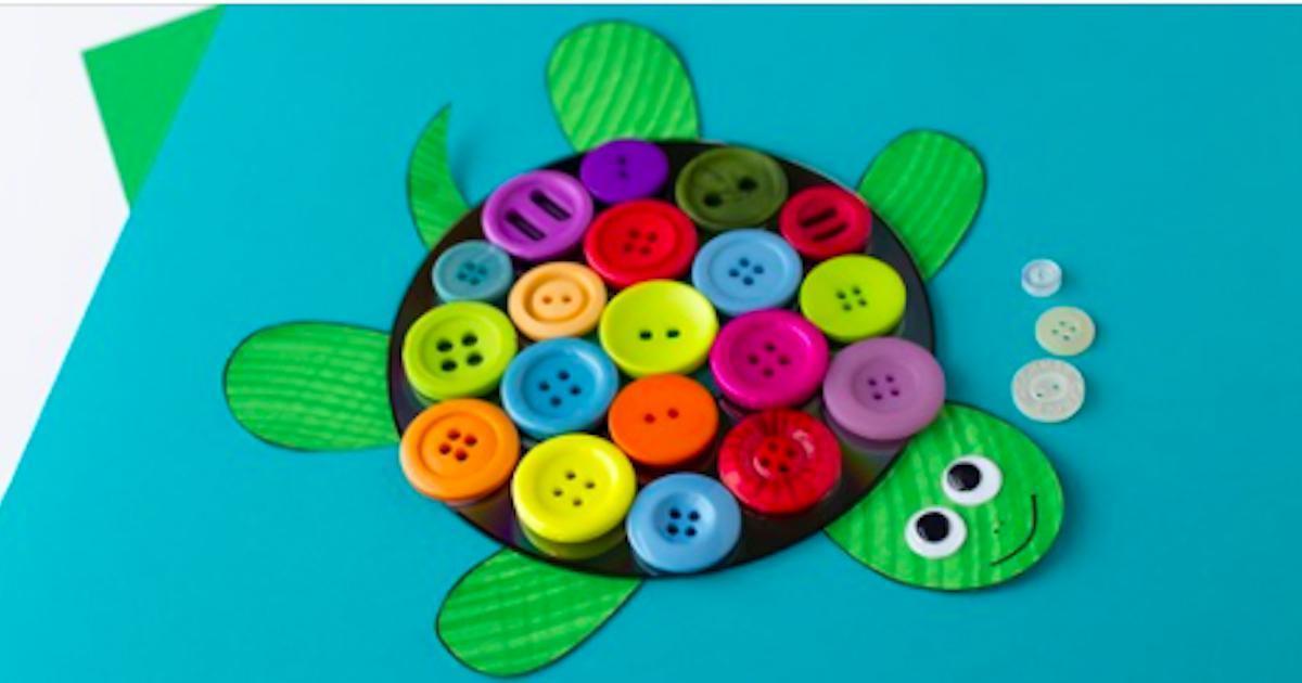 Comment bricoler une belle tortue avec un CD et des boutons