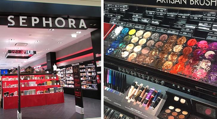 Un enfant détruit 1 300 dollars de maquillage dans un magasin : la mère s'enfuit et déclenche une polémique